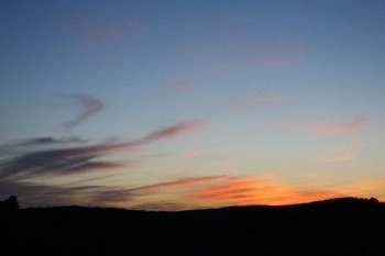 Sonnenuntergang im Steinbruch in Birresborn; ?>