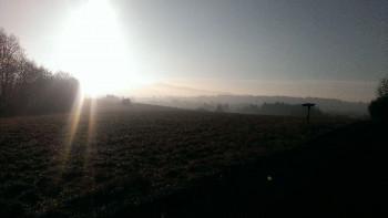 Sonnenaufgang oberhalb von Kelberg in Richtung Bongard; ?>