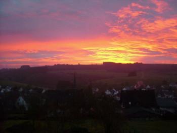 Sonnenaufgang Deudesfeld; ?>